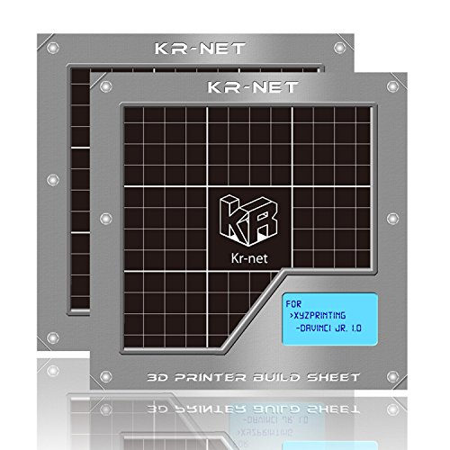 2-Packs-KR-NET-3D-Printer-Adhesive-Sticker-Build-Sheet-Grid-ver-20-size-59-x-59-Pack-of-3-for-XYZ-Printing-Da-Vinci-Jr-10-0