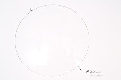 250mm-Diameter-x-5mm-Thick-Round-Borosilicate-Glass-Plate-0