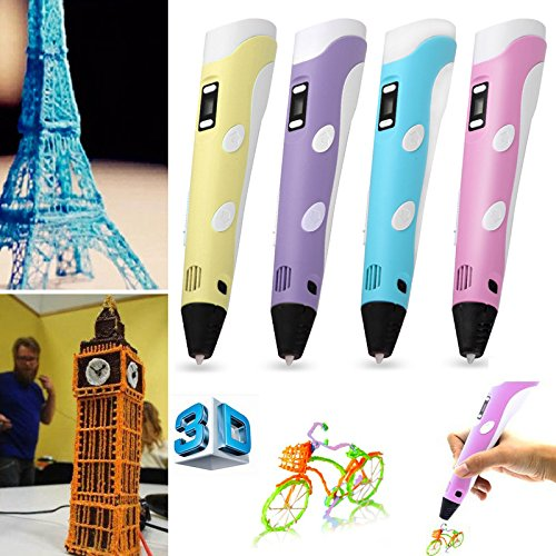 3D-Arts-Crafts-Drawing-3D-Printing-Printer-Pen-With-LCD-Screen-4-Colors-Filament-Power-Adapter-0