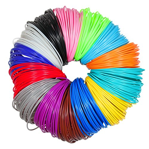 3D-Pen-Filament-Refills-175mm-ABS-280-Linear-Feet-20-foot-each-Total-14-Different-colors-fun-pack-4-Glow-In-The-Dark-Colors-175-FREE-Stencils-eBook-Included-0