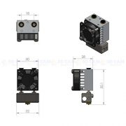 3D-Printer-2-input-Switching-Bowden-Hot-End-04mm-175mm-w-add-on-dual-heads-0-6