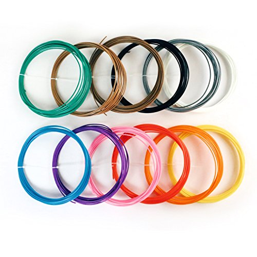 3DPrime-Twine-ABS-3D-Pen-Filament-Refills-Sample-Pack-for-All-175mm-Models-12-Vacuum-Sealed-20-Foot-Rolls-Multiple-Vibrant-Colors-0-0
