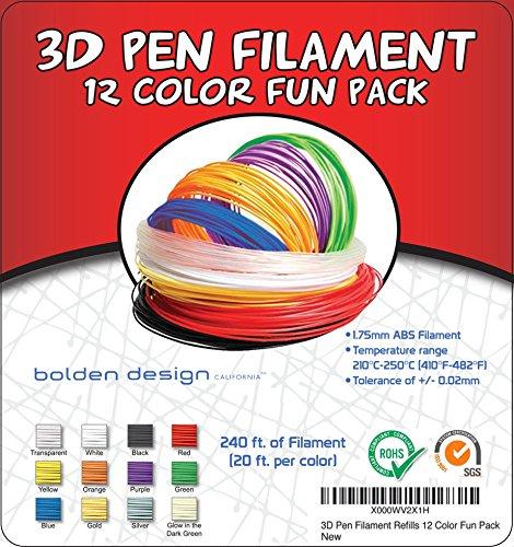 3Doodler-Plastic-Refills-175mm-ABS-3D-Pen-Filament-Also-Compatible-with-Scribbler-3D-Pen-240-Total-Feet-20-Feet-Per-Color-0-0
