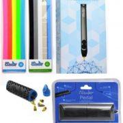 3doodler-20-Bundle-w-Printing-Pen-Pedal-SET-and-Nozzle-Set-3doodler-20-3d-Printing-Pen-50-Strands-of-3doodler-Plastic-Filament-25-PLA-25-Abs-0
