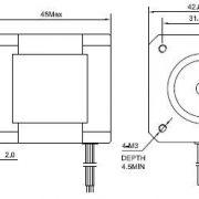 5PCS-Nema-17-Stepper-Motor-Bipolar-2A-84ozin-48mm-4-lead-for-3D-PrinterCNC-0-2