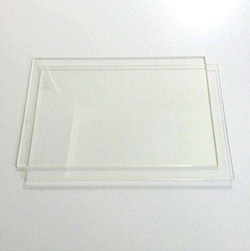 6-x-9-150mm-x-230mm-Borosilicate-Glass-Plate-Bed-w-Flat-Polished-Edge-for-Flashforge-Creator-Makerbot-Replicator-3D-Printer-2-Pack-0
