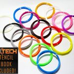 Amazing-HUGE-300ft-and-Assorted-3D-PEN-FILAMENT-ABS-Premium-Quality-Pack-15-Colors-3-GLOW-IN-THE-DARK-175mm-FREE-eBook-With-More-than-200-Easy-Templates-to-Become-a-PRO-NXTECH-002mm-0