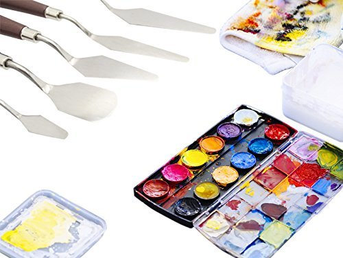 EVINIS-5Pcs-Stainless-Steel-Spatula-Palette-Knife-Painting-Mixing-Scraper-Set3D-Print-Removal-Tool-0-5