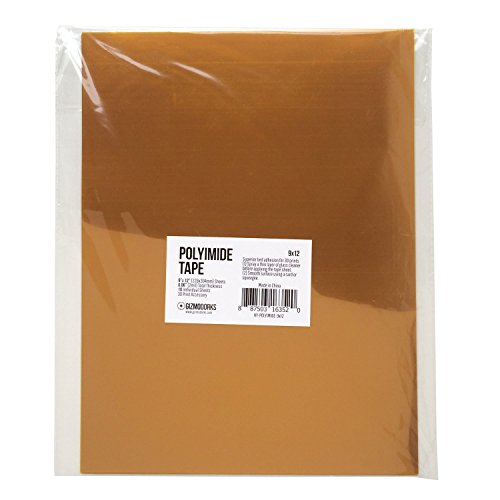 Gizmo-Dorks-Kapton-Tape-Polyimide-for-3D-Printers-and-Printing-9-x-12-inches-10-sheets-per-pack-0-0