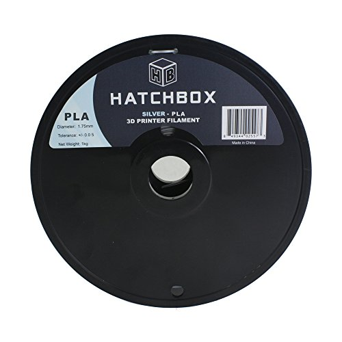 HATCHBOX-3D-PLA-1KG175-SLV-PLA-3D-Printer-Filament-Dimensional-Accuracy-005-mm-1-kg-Spool-175-mm-Silver-0-0