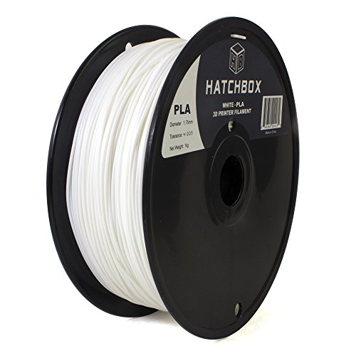 HATCHBOX-3D-PLA-1KG175-WHT-PLA-3D-Printer-Filament-Dimensional-Accuracy-005-mm-1-kg-Spool-175-mm-White-0