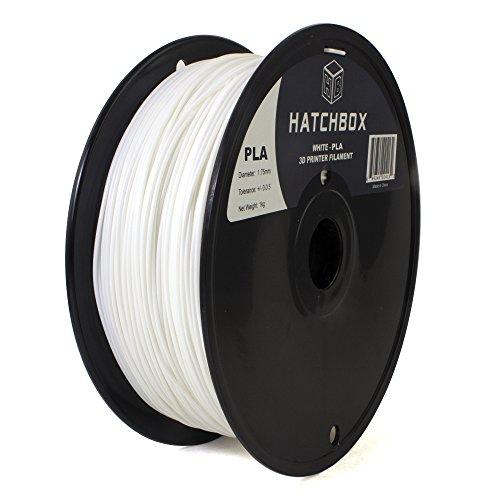 HATCHBOX-3D-PLA-1KG175-WHT-PLA-3D-Printer-Filament-Dimensional-Accuracy-005-mm-1-kg-Spool-175-mm-White-0