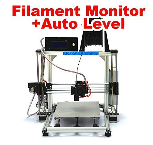 HICTOP-Filament-Monitor-Design-Auto-Leveling-Desktop-DIY-3D-Printer-Prusa-I3-Kit-Unassembled-Parts-Printing-Size-106-x-83-x-77-with-LCDFilament-Not-includedWhite-0