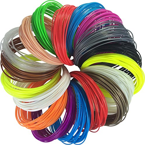 JUMBO-PACK-3D-Pen-Filament-Refills-50-Stencils-eBook-576-Linear-Feet-18-colors-32-ft-each-175mm-Plastic-ABS-Includes-3-Glow-In-The-Dark-Filaments-for-3D-Pen-0-6