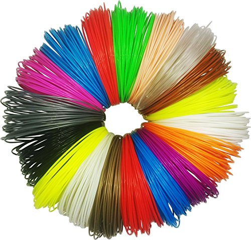 JUMBO-PACK-3D-Pen-Filament-Refills-50-Stencils-eBook-576-Linear-Feet-18-colors-32-ft-each-175mm-Plastic-ABS-Includes-3-Glow-In-The-Dark-Filaments-for-3D-Pen-0