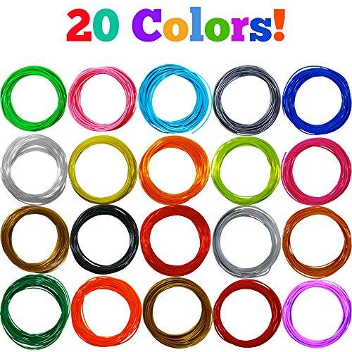 NONTOXIC-3D-Pen-Filament-Refill-Kit-20-Colors-500-Feet-Universal-175mm-PLA-Filament-25-Per-Color-SketchPro-0-0