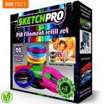 NONTOXIC-3D-Pen-Filament-Refill-Kit-20-Colors-500-Feet-Universal-175mm-PLA-Filament-25-Per-Color-SketchPro-0