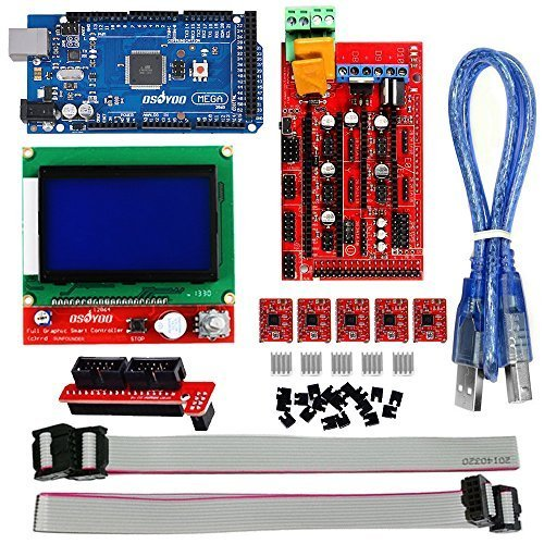 OSOYOO-3D-Printer-Kit-with-RAMPS-14-Controller-Mega-2560-board-5pcs-A4988-Stepper-Motor-Driver-with-Heatsink-LCD-12864-Graphic-Smart-Display-Controller-with-Adapter-For-Arduino-RepRap-0