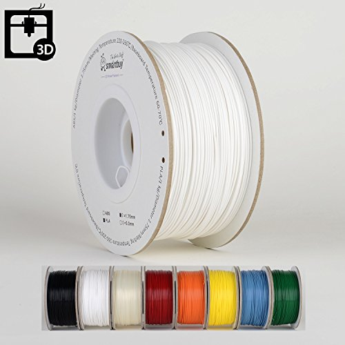 Smartbuy-175mm-White-PLA-3D-Printer-Filament-1kg-Spool-Roll-22-lbs-Dimensional-Accuracy-005mm-0