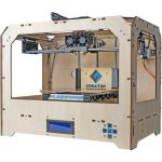 Super-Creator-3D-Printer-with-Dual-Extruder-Wood-Case-0