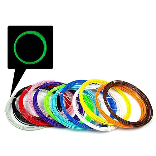 Vanka-3D-PEN-Filament-Fun-Pack-12-Different-Colors-with-1-Glow-In-The-Dark-Sufficient-Weigh-25gpcs-328-Feet-ABS-175mm-3d-Print-Ink-for-3d-Printer-Pen-3D-Drawing-Pen-Pack-of-12-PCS-0