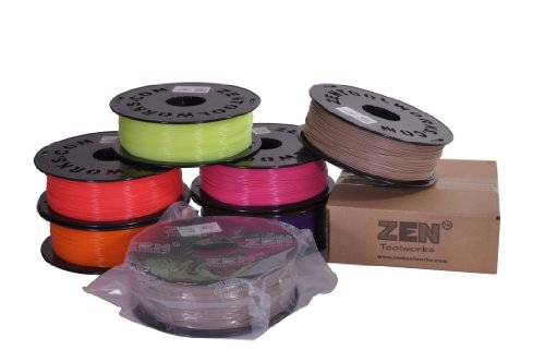 Zen-ToolworksTM-3D-Printer-175mm-Dark-Red-PLA-Filament-1kg-22lbs-Spool-0-1
