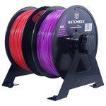 HATCHBOX-2-Spool-3D-Printer-Filament-Tabletop-Wall-Mount-Rack-0-0